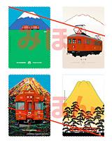 富士登山電車ポストカード(4枚1組)
